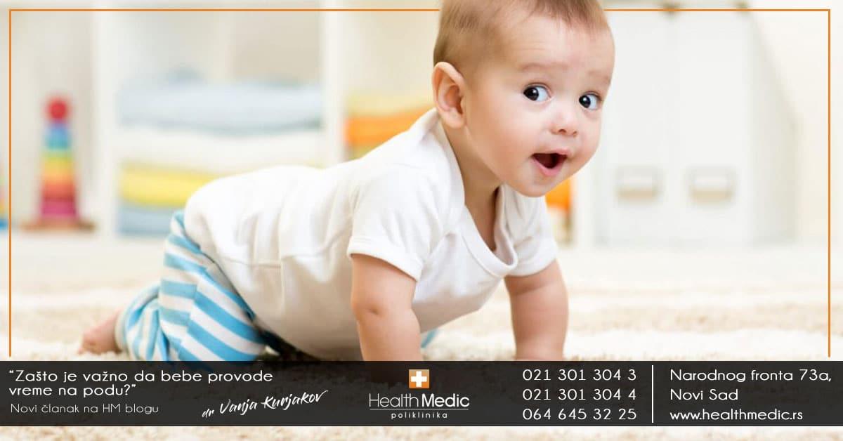 Zašto je važno da bebe provode vreme na podu
